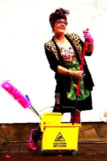Charwoman Mo mops up